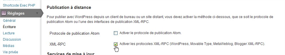 HomePress-XML-RPC