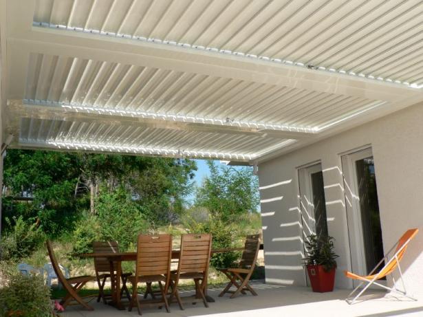 La domotique et la terrasse pergola lames orientables - Pergola a lames orientables prix ...