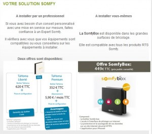 somfy s 39 ouvre au enocean avec la somfy box. Black Bedroom Furniture Sets. Home Design Ideas
