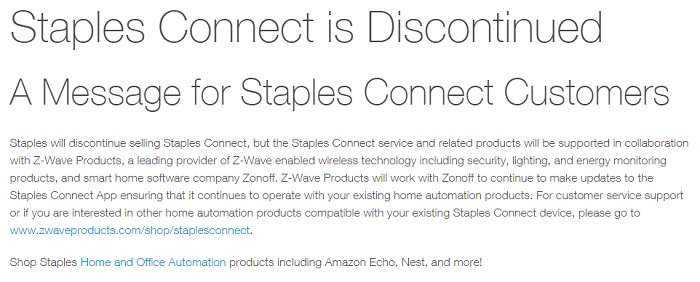 Staples-disconnect