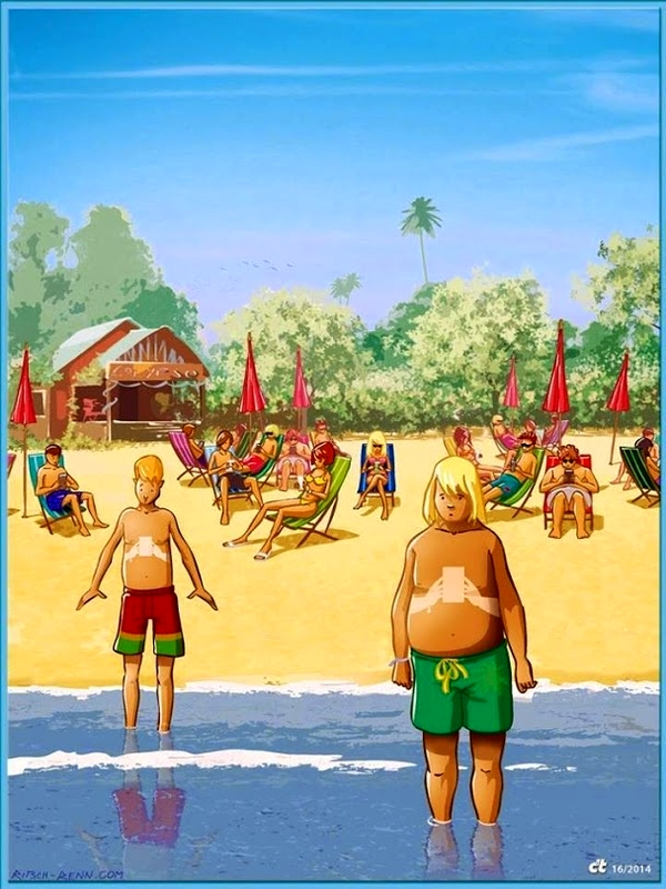bronzage-portable-jeu-video-plage-vacances