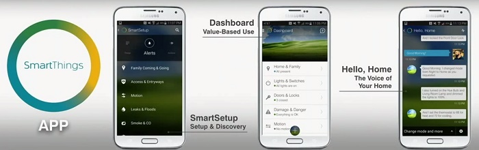 La Smart Home par Samsung s'appelle SmartThings