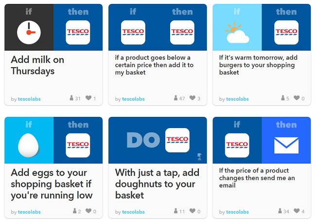 tesco-ifttt-recepies